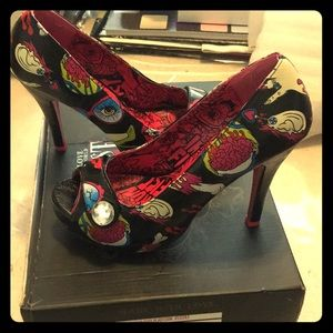 Iron fist glamour platform heels body parts horror